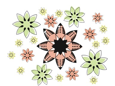 Flower pattern using geometric and natural elements