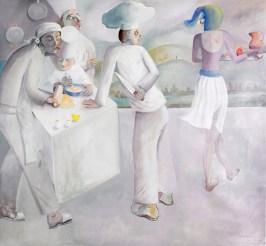 CUOCHI D'ITALIA N. 3, 2014, olio su tela, 178x195 cm