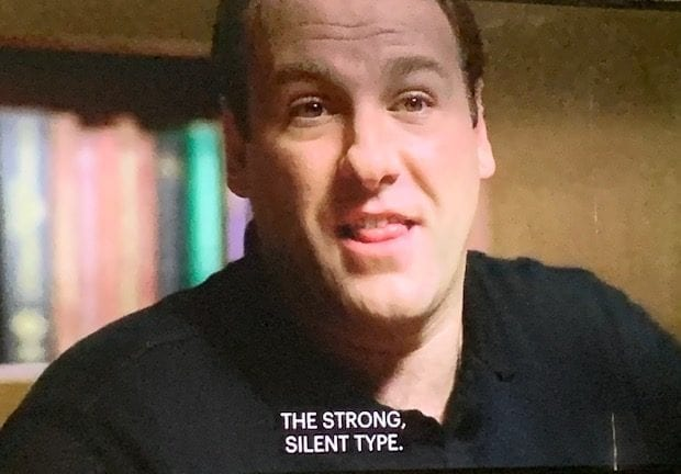 Tony Soprano is in therapy.