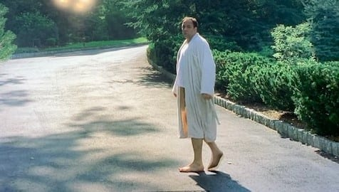 Tony Soprano in His Robe in Guy Walks Into a Psychiatrist