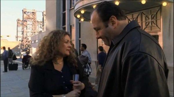 Tony Talking to Janice Soprano