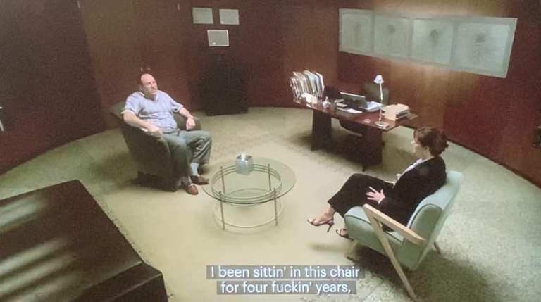 Dr. Melfi Talking to Tony Soprano Calling All Cars
