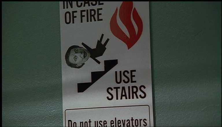 Livia Soprano's Photo on the stairwell