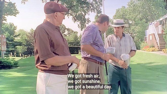 """We got fresh air, we got sunshine, we got a beautiful day."" -Tony Soprano"