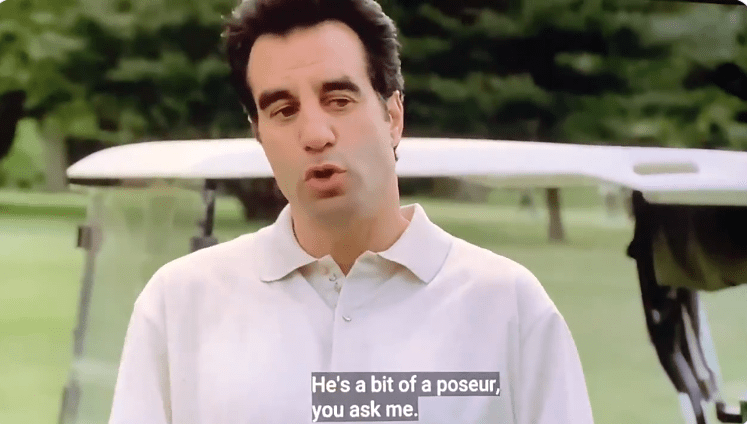 Little Carmine Lupertazzi is golfing with his father and Johnny Sack, and tells them he thinks Tony Soprano is a bit of a poseur.