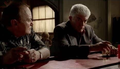Phil Leotardo is talking to Butchie about what Tony Soprano has done to their family.