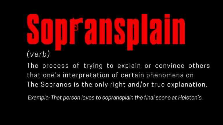 the word sopransplain with its definition
