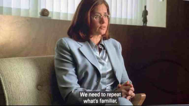 Dr. Melfi is talking to Tony Soprano about how his attraction to Gloria is related to trying to please his mother.