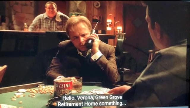 Ralph Cifaretto is prank calling Nucci Gualtieri at Green Grove in Whoever Did This