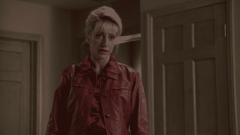 Carmela Soprano is talking to Tony about him cutting their daughter, Meadow, off while she is in college.