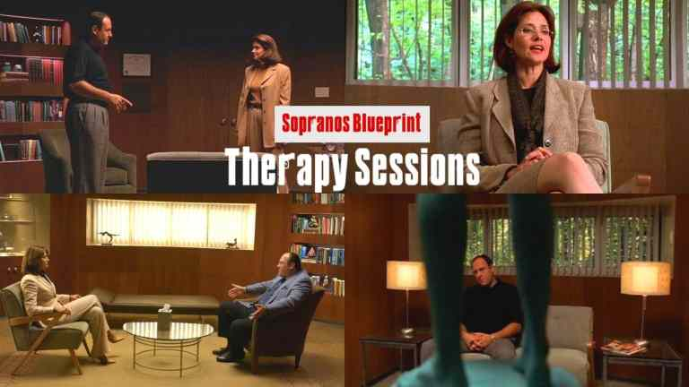 tony and dr melfi are in different therapy sessions