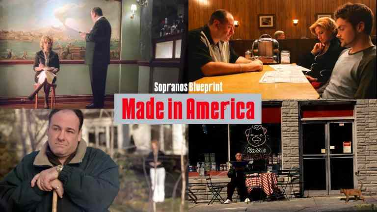 images from the sopranos series finale made in america