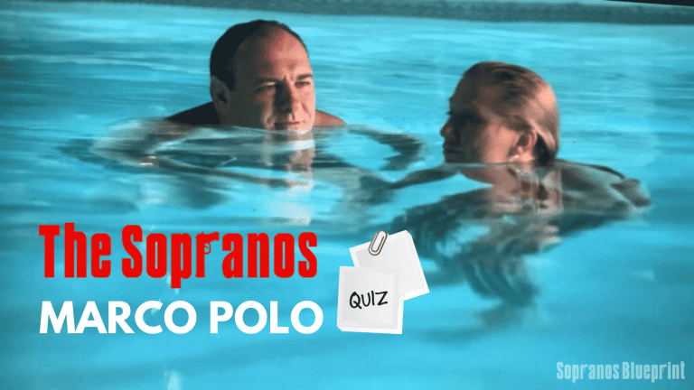 tony and carmela soprano are swimming in the pool together.