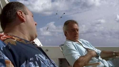 Tony and Paulie On the Boat in The Sopranos