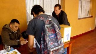 Afiliados al momento de votar