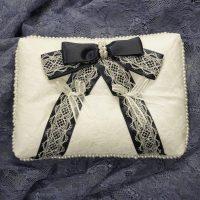 【無料型紙】手作りリングピローの作り方【前編】基本の白いピローの縫い方