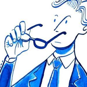 メガネの男性のイラストレーション