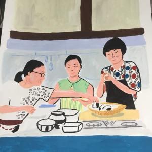 かもめ食堂イラストレーション