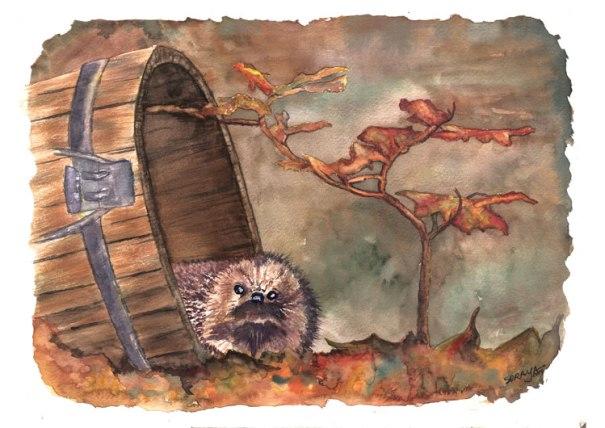 aquarela ouriço watercolour hedgehog
