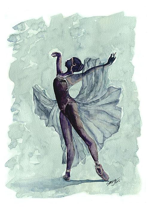 Aquarela nº 4 da Série Ballet