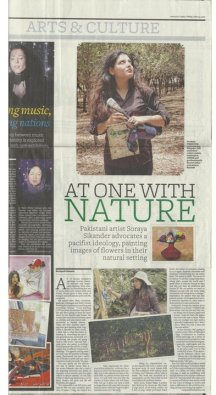 Soraya Sikander work reviewed by the Khaleej Times