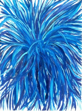 'Blue bush' oil on canvas, 12 by 14 inches, 2010 (sold)