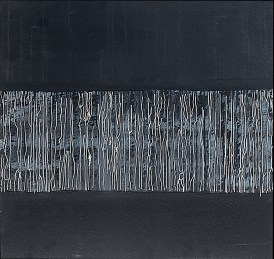 'Calligraphic landscape ll' oil and acrylic on canvas, 36 by 36 inches, 2013 (sold)