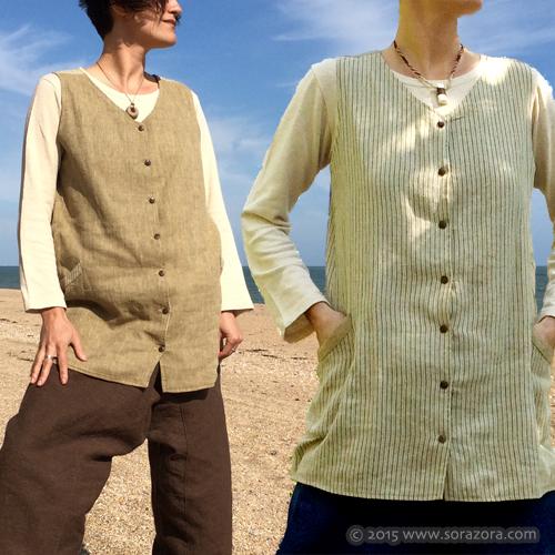Wakakusa Reversible Vest