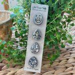 Water drop shanti buttons
