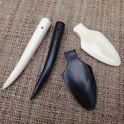 Tooth & Arrowhead Pendants
