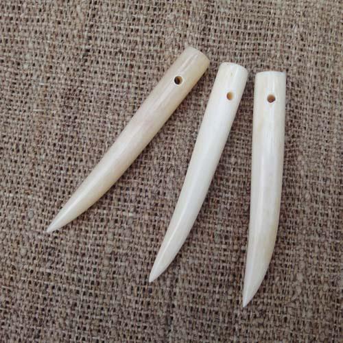 Bone Tooth Pendants