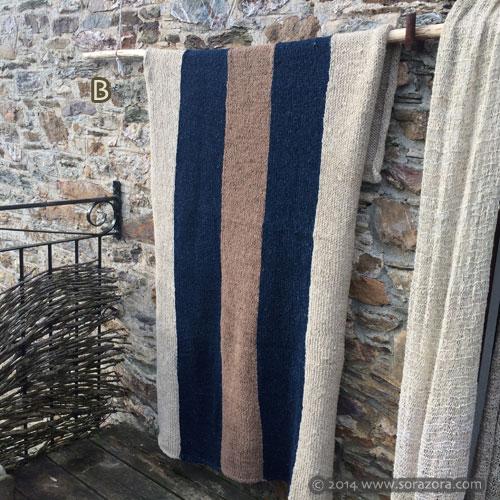 Hand Knit Stripe Blanket