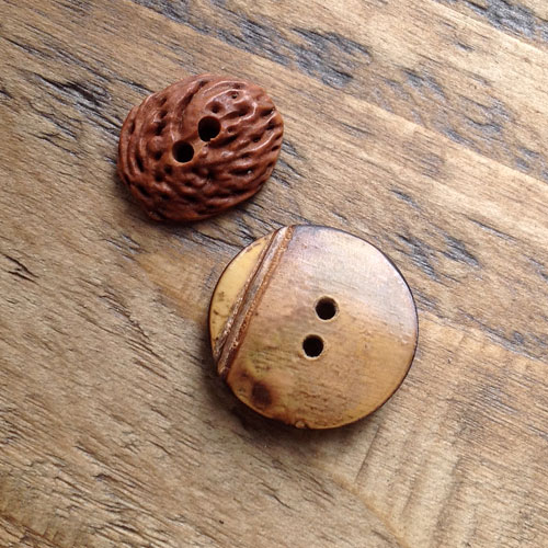 Peach & Bamboo Buttons