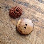 Peach & Bamboo Buttons