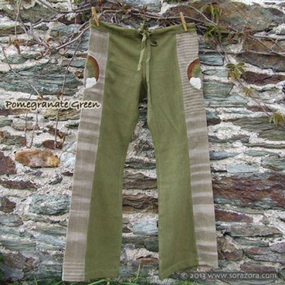 Rainbow Hike Bell Bottom Pants