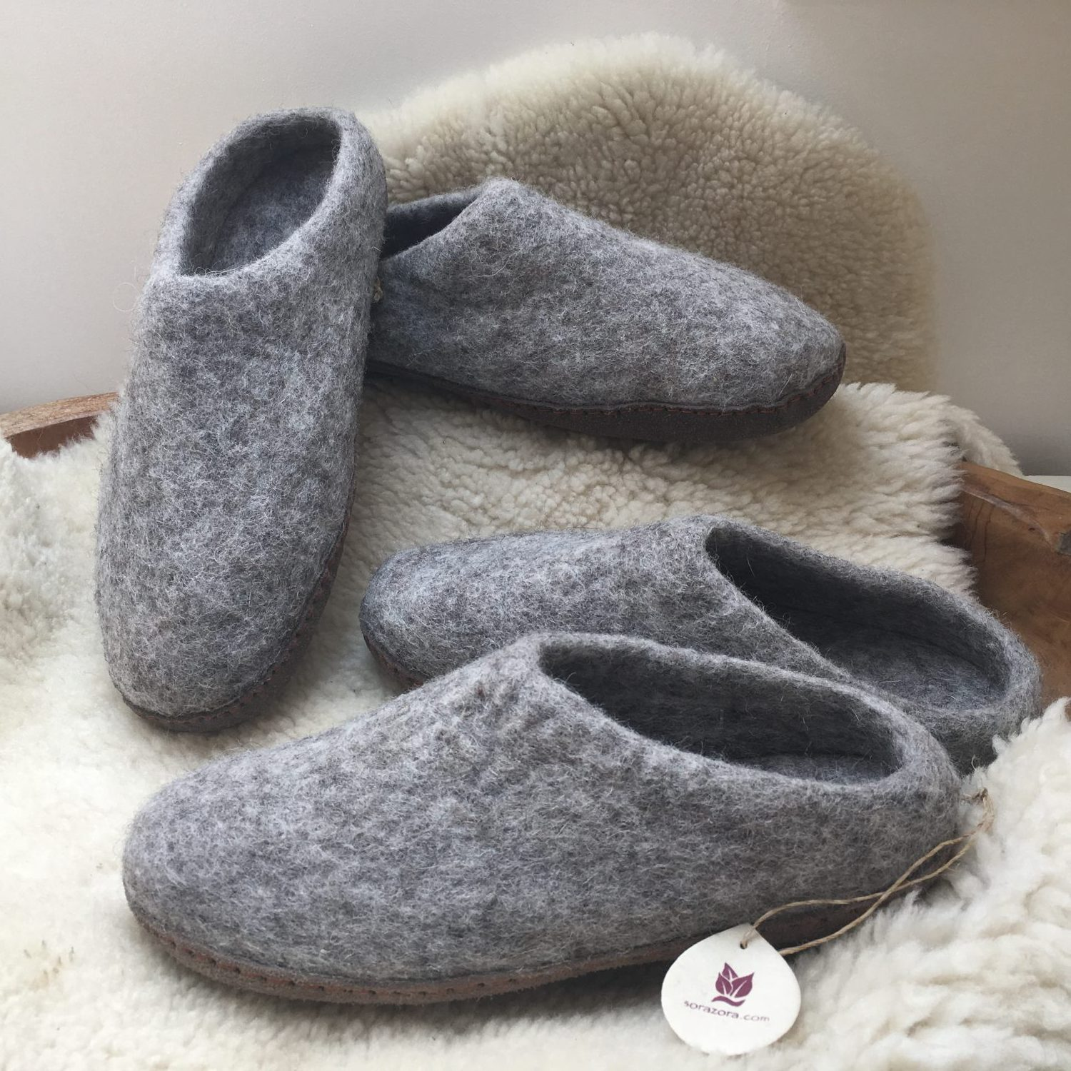 Felted Toasty Slippers
