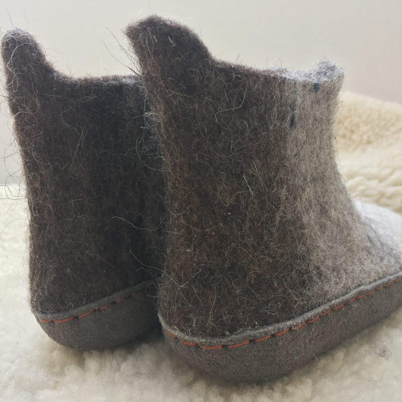 Kids' Felt Boot Slippers
