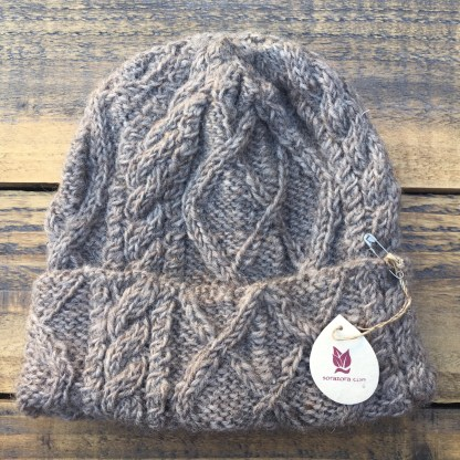 Wool Cable Knit Hat