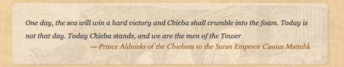 a quote from Prince Aldnieks of the Chiebans