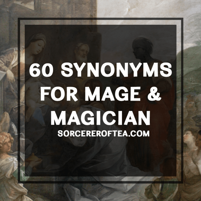 60 synonyms for mage and magician by SorcererOfTea.com