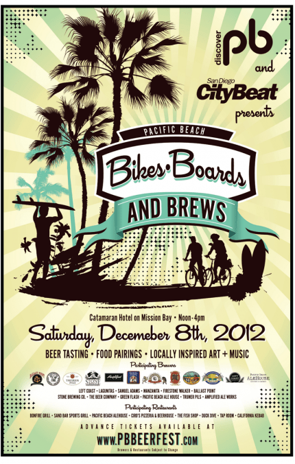Flyer for Bikes, Boards and Brews event