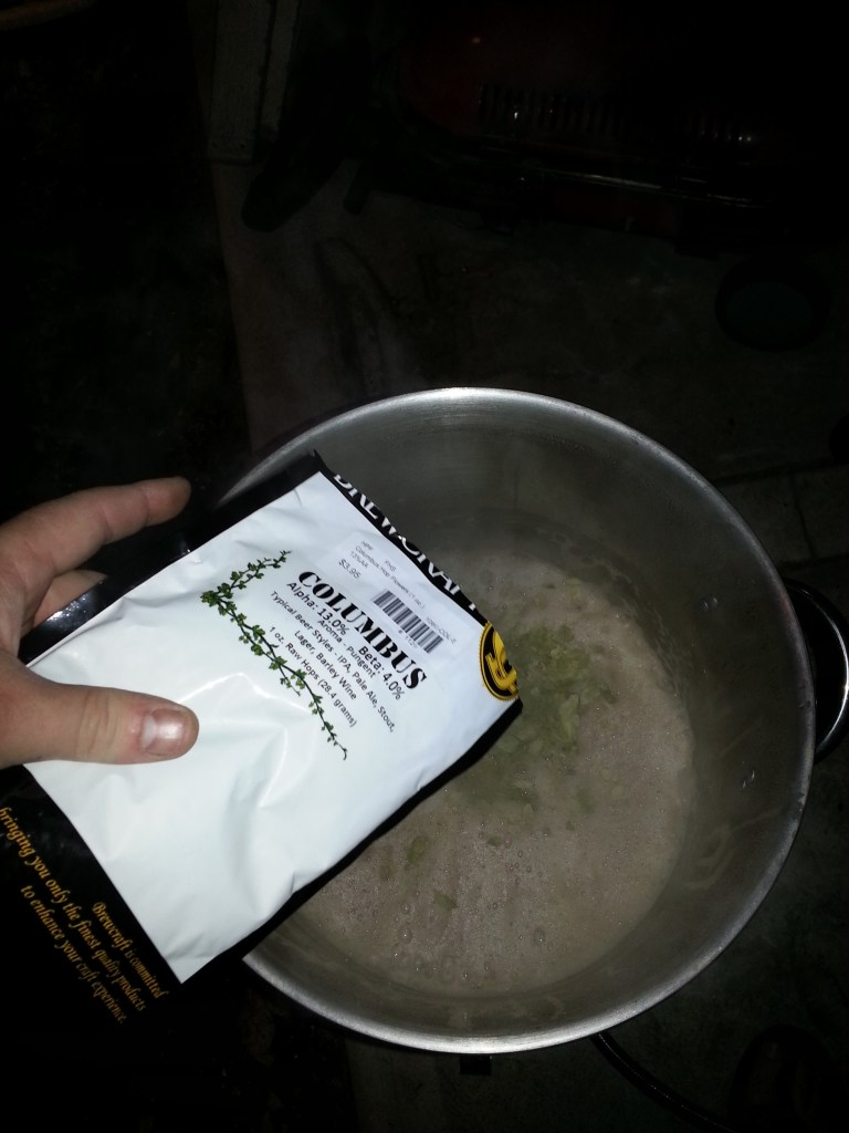 adding Columbus hops to homebrew