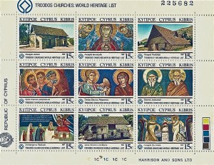 Stamps commemorating monastery art.