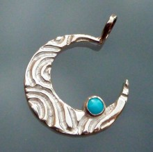 Turquoise and Silver Crescent Moon - 2012