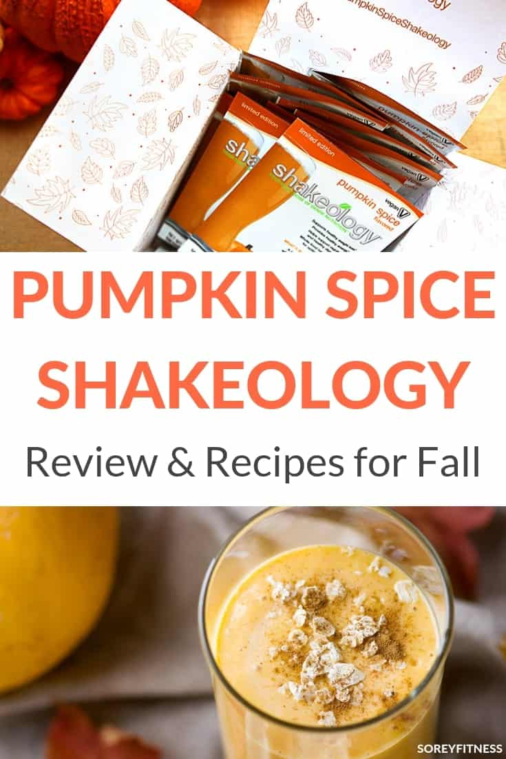Pumpkin Spice Shakeology Review Collage