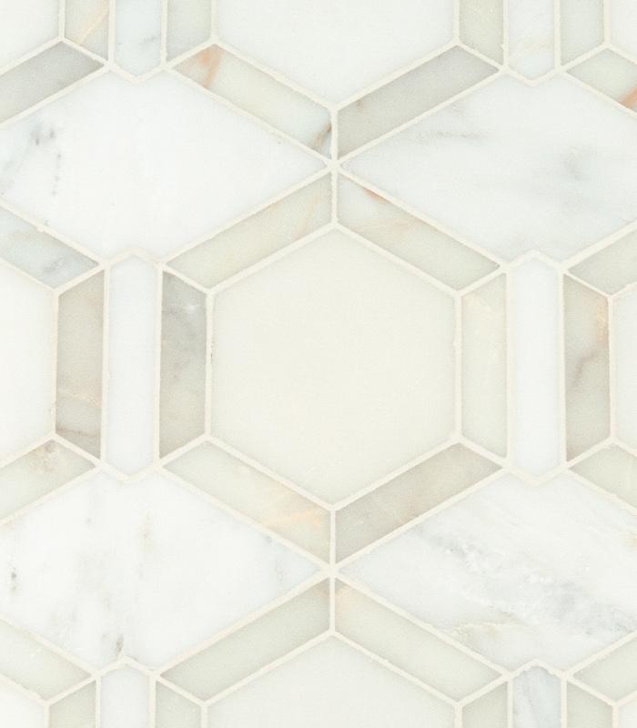 metro hex waterjet mosaic ruben