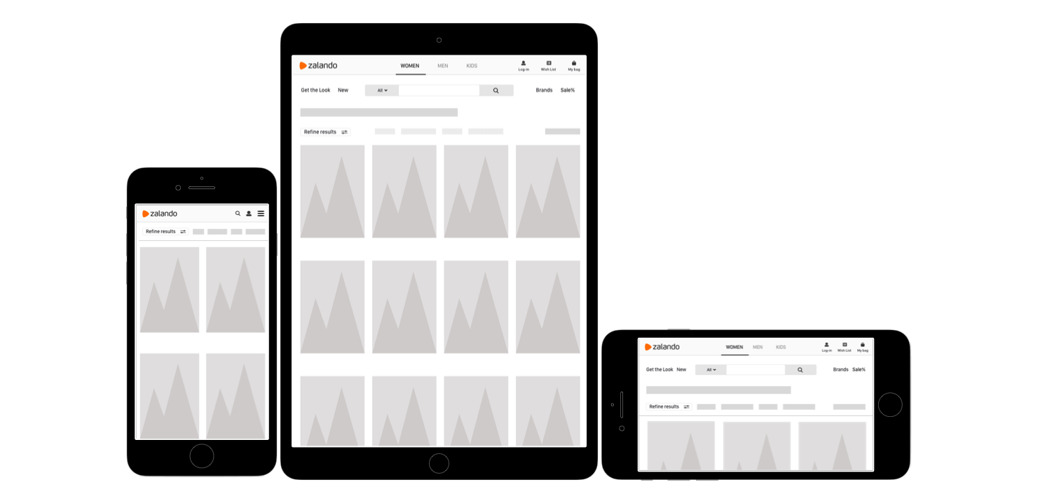 zalando ipad filter view copy