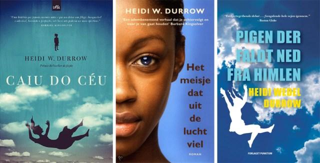 Ilyen a The Girl Who Fell from the Sky portugál, holland és dán borítója.