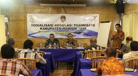 Diskopperindagpar Kabupaten Madiun Sosialisasikan Regulasi Pariwisata