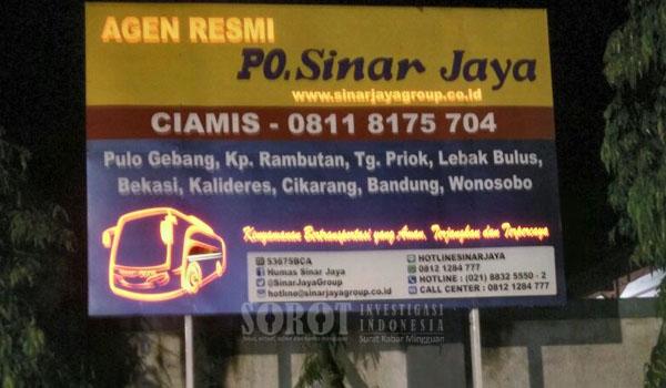 Segera Stop Sementara Izin Operasional PO Sinar Jaya